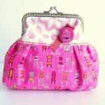 Cute Purse Pink Yellow Cha..